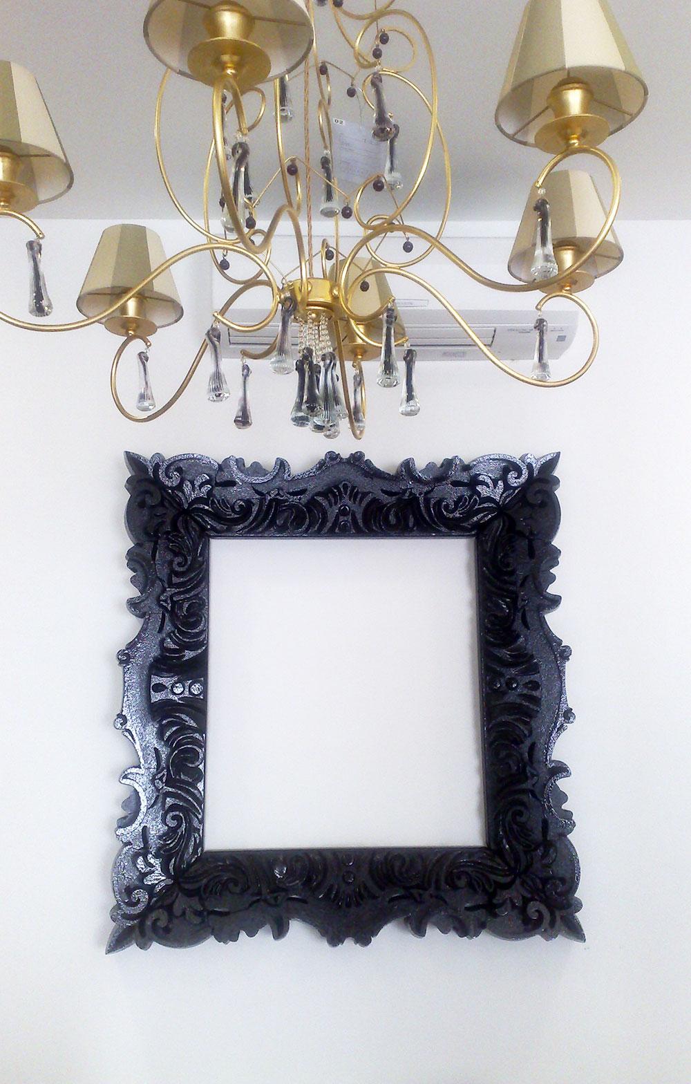 Cornici - Specchio cornice nera barocca ...