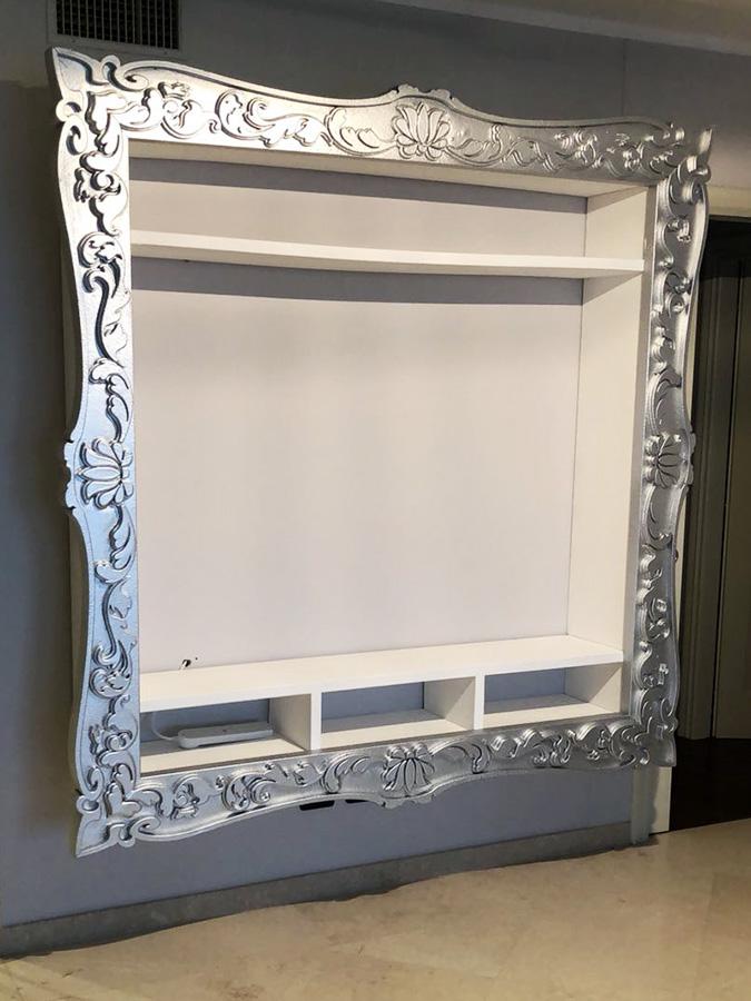 Porta Tv Barocco Moderno.Cornici